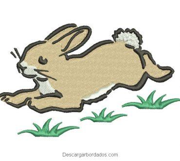 Diseño bordado de conejo para bordar