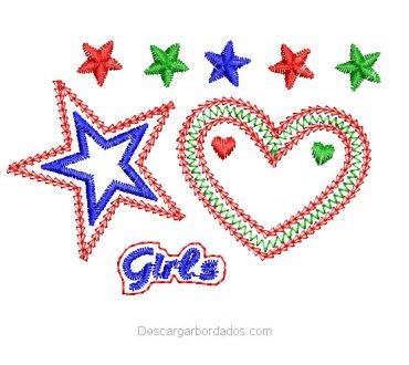 Diseños de Bordado de Corazón Para Niñas