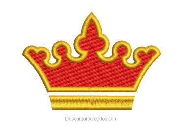 Diseño bordado de corona con relleno