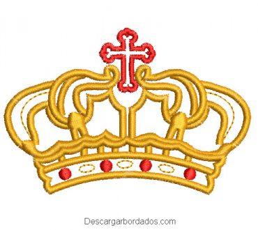 Diseño bordado de corona de rey
