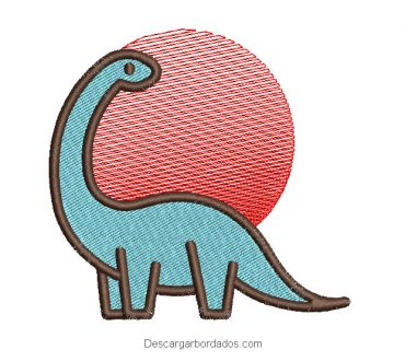 Diseño bordado de dinosaurios para máquina