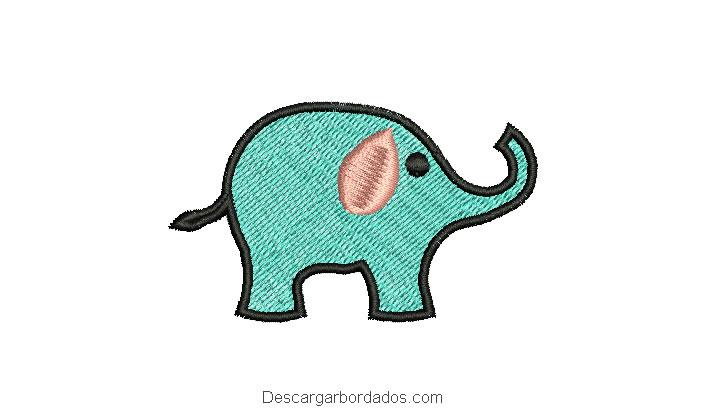 Diseño bordado de elefante para bordar
