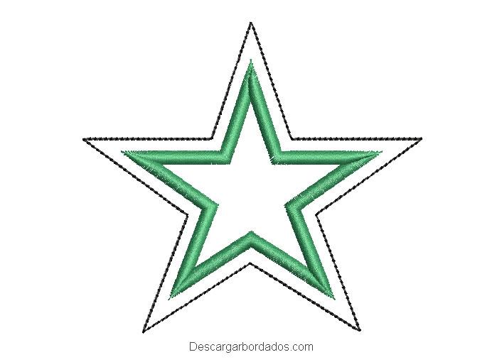 Diseño bordado de estrella con aplicación