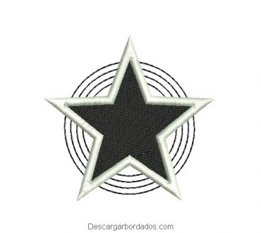 Descargar diseño bordado de estrella para bordado