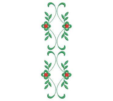 Diseño bordado de flores para guayaberas