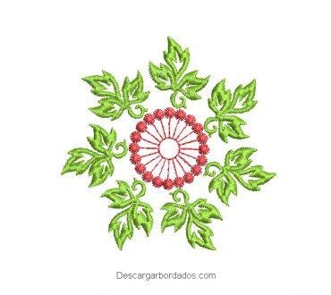 Diseño bordado de flores para maquina
