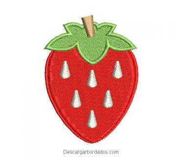 Diseño bordado de fresa para bordar