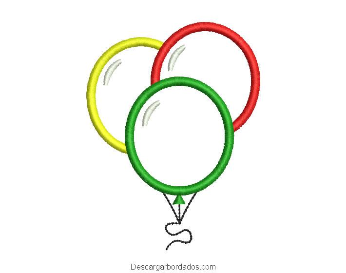 Bonito Diseño bordado de globo con aplicación
