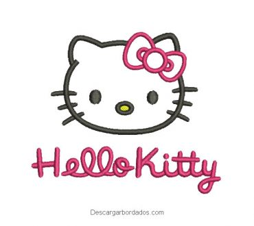 Diseño bordado de hello kitty