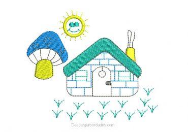 Diseño bordado de jardín para bebe