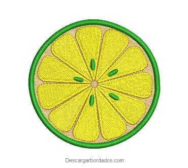 Diseño bordado de limón para máquina