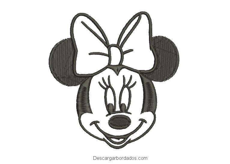Diseño bordado de mickey mouse de color negro