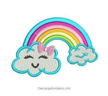 Diseño bordado de nube infantil para bordar