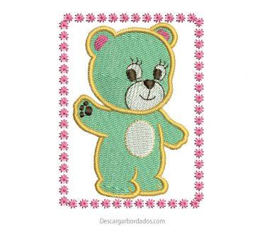 Diseño bordado de oso Infantil para Bordar