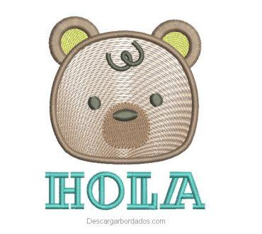 Descargar diseño bordado de oso con letra