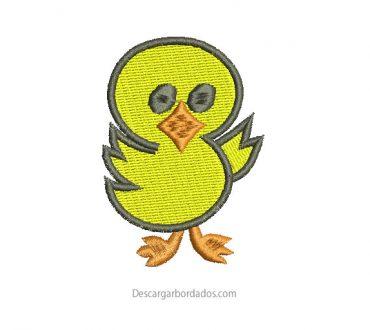 Diseño bordado de pato infantil para bordar