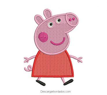 Diseño bordado de peppa pig