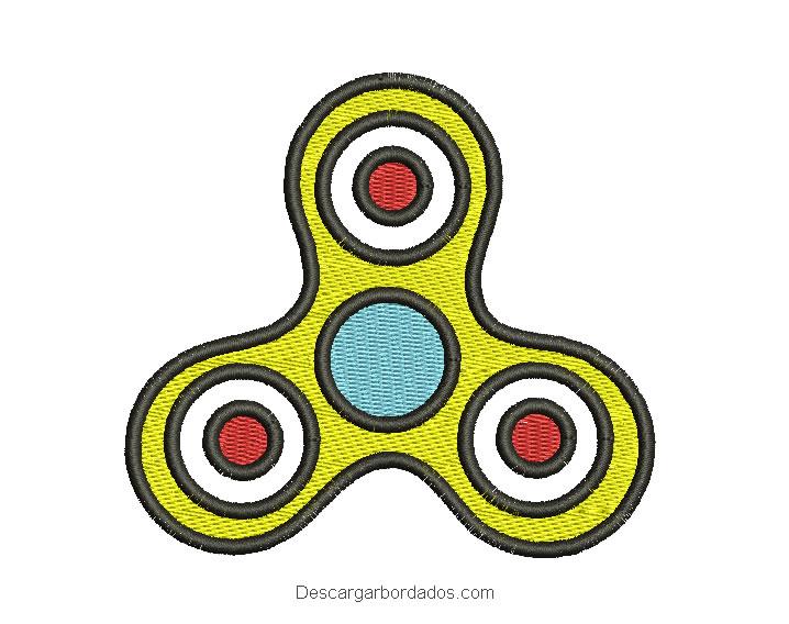 Diseño bordado de spinner para bordar
