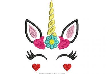 Diseño bordado de unicornio para maquina bordadora