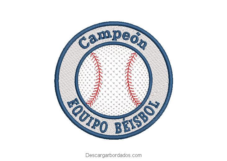 Diseño bordado equipo béisbol