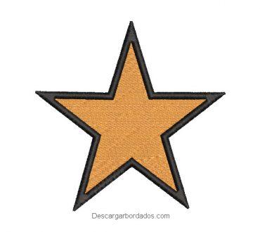 Diseño bordado estrella con borde negro