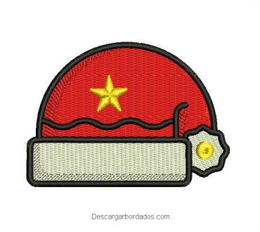 Bordado gorra de santa claus