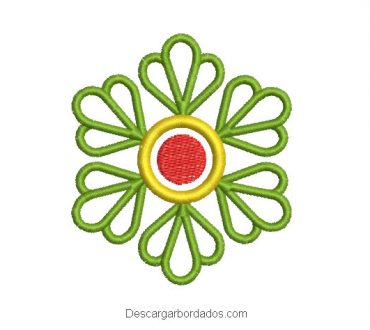 Diseño bordado hojas de trébol