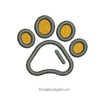 Descargar diseño bordado huella de perro