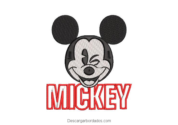Diseño bordado letra mickey