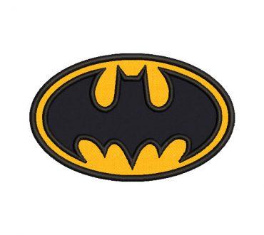 Diseño bordado logo de batman con Aplicación