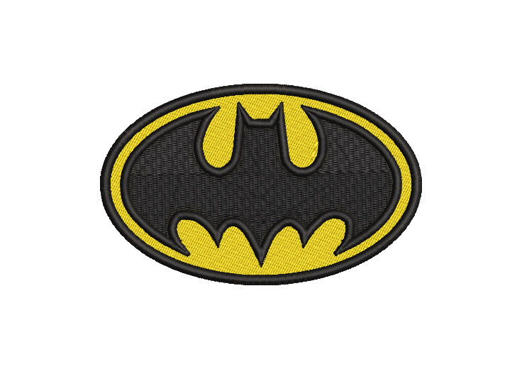 Diseño bordado logo de batman