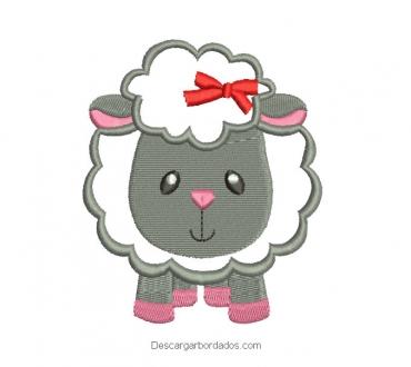 Diseño bordado de oveja para máquina