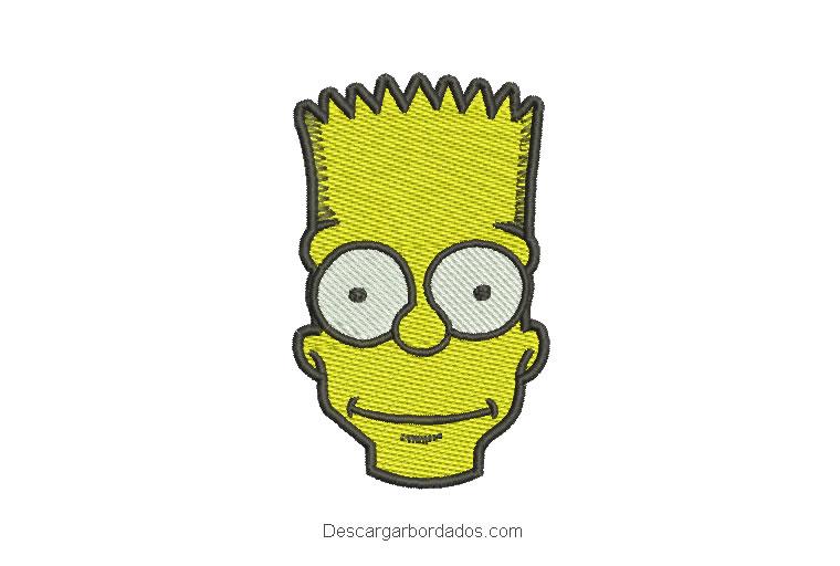 Diseño bordado rostro de bart simpson