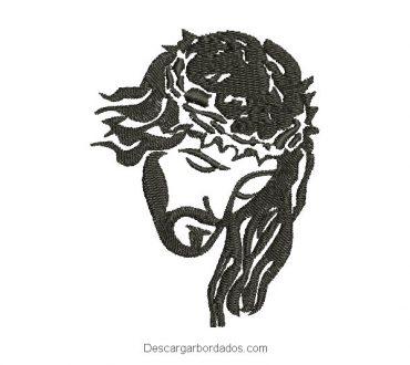 Diseño bordado rostro de jesus para bordar