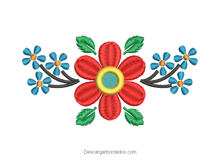 Diseño bordados ramos de flores para máquina