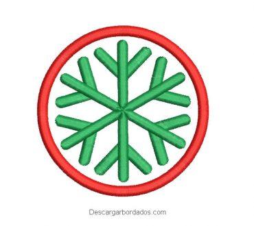Bordado corona de navidad con estrella
