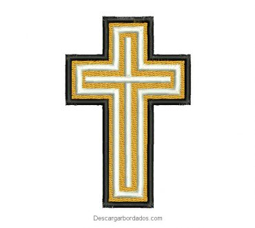 Diseño de cruz para maquina de bordado