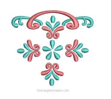 Diseño de flores para bordar en bolsillo