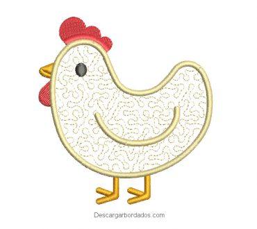 Descargar diseño de gallina para bordado