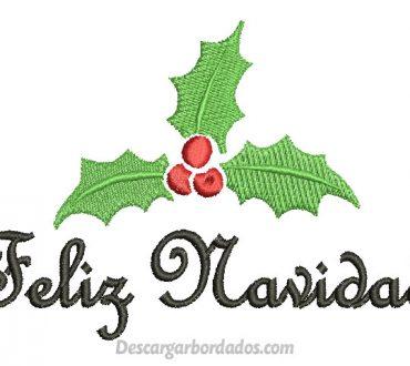 Diseño de letra Feliz Navidad para Bordar