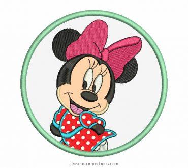 Bordados de Minnie Mouse con aplicación para Máquina