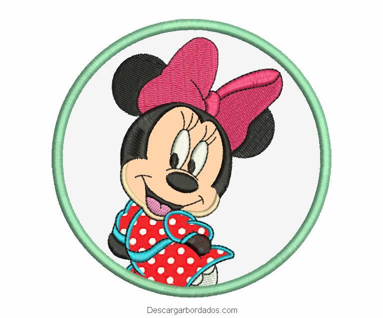 Diseño de Minnie Mouse con aplicación para bordado