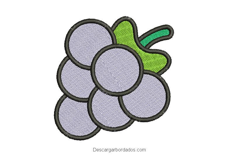 Diseño de uva para bordar en máquina