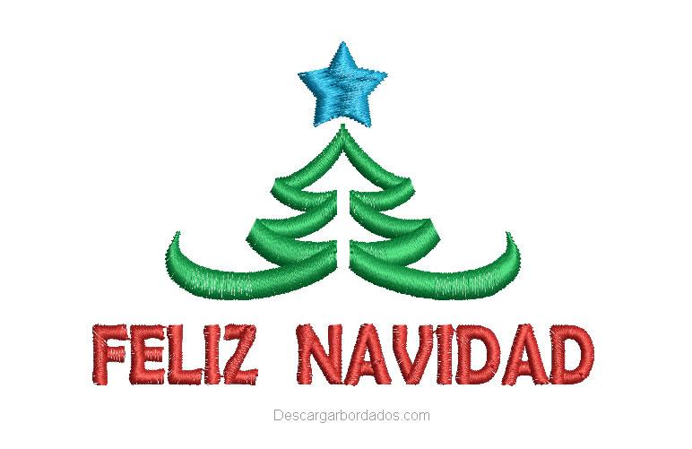 Diseños bordado de Feliz Navidad con árbol de Navideño - Descargar ...