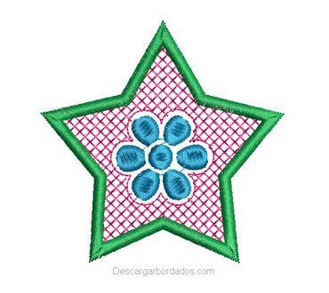 Diseños Bordados de Flores con Fondo de Punto Cruz