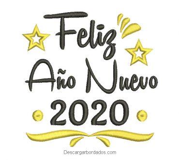Bordados de Feliz Año Nuevo 2020