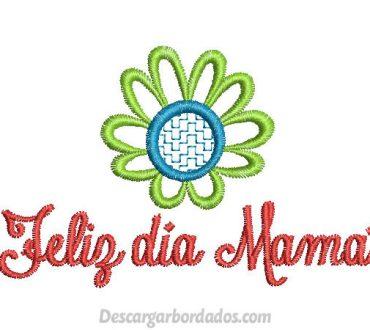 Bonito Diseño de Feliz día Mamá para Bordar