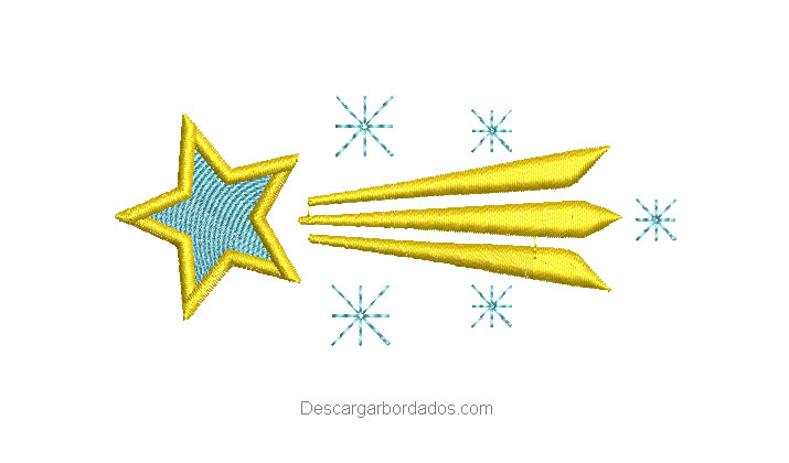 Diseños bordado de estrella fugaz