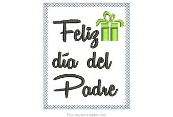 Diseños bordado de feliz día del padre para Bordar