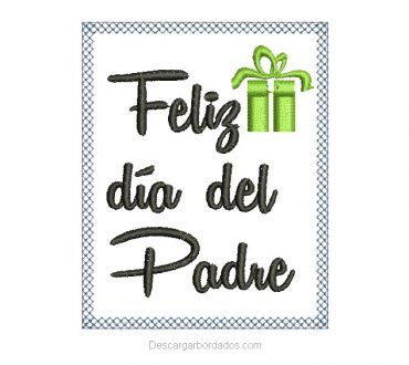 Diseños bordado de feliz día del padre